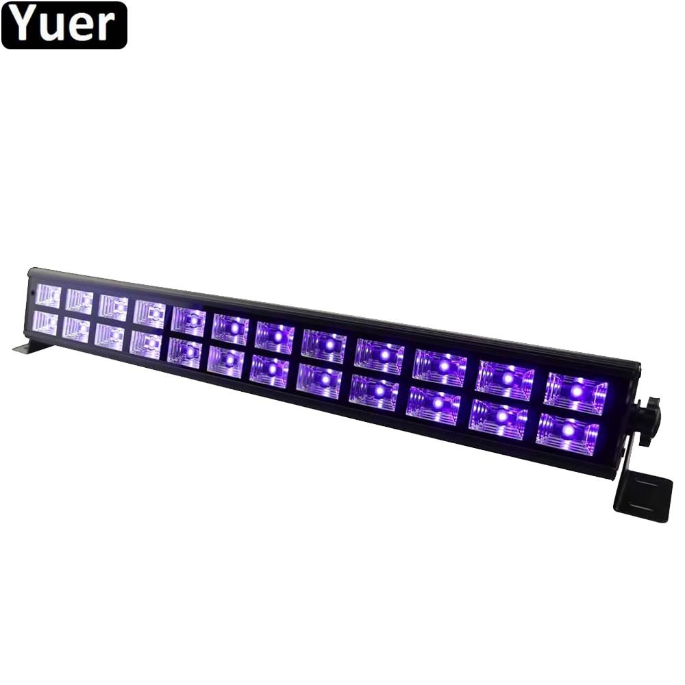 Светодиодный УФ-светильник для дискотеки s, черный, фиолетовый, 24 светодиода, 40 Вт, вечерние УФ-лампы для рождественской бара, лазерная сцени...