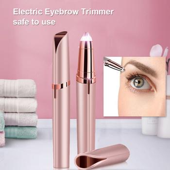 Elektryczny trymer do brwi Mini Eye Brow depilator szminka brwi depilator bezbolesny depilator brwi makijaż Eye Brow Shaper tanie i dobre opinie