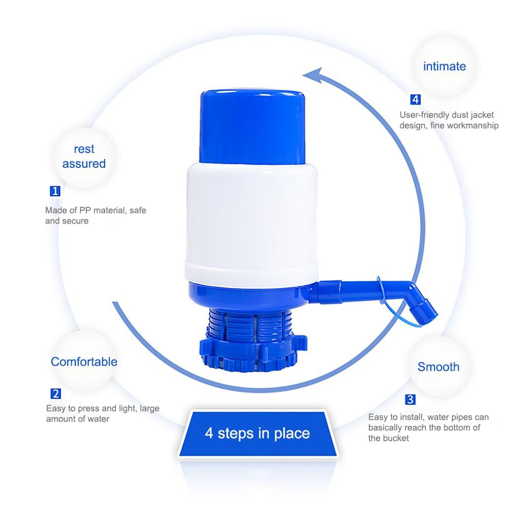 Portable Water Pump Dispenser Gallon Drinking Bottle Hand Press Removable Tube Innovative Manual Pump Dispenser Tools For Office in Water Bottles from Home Garden