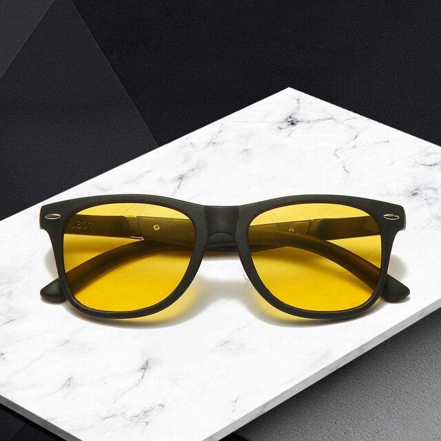 طويل حارس للرؤية الليلية نظارات الرجال الاستقطاب القيادة النظارات الشمسية النساء عدسات صفراء اللون الرياضة الصيد نظارات ظلال Oculos UV400