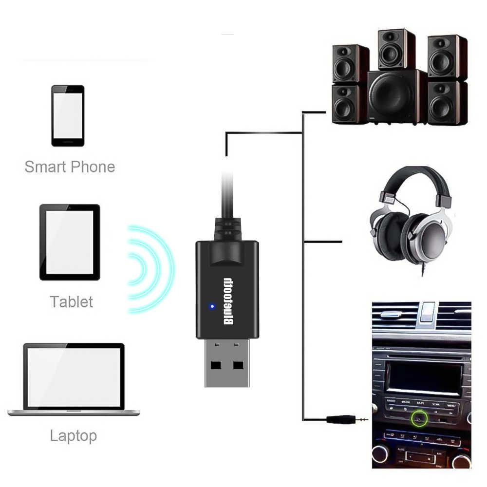 Kebidu 3.5 Mm Audio Aux Mobil Receiver Adaptor USB Nirkabel Bluetooth Audio Receiver Bluetooth 4.2 Stereo Adaptor untuk Speaker Y-16