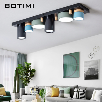 Botimi Irregular Cylindrical Ceiling Lights For Living Room Modern Surface Mounted Round Bedroom Lights Black Long Room Lighting Buy At The Price Of 79 20 In Aliexpress Com Imall Com