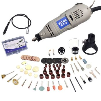 Mini Electric Grinder Drill With 6 Position Rotary for Dremel Variable Speed
