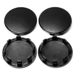 Image 4 - Tapacubos de rueda para coche KIA Sportage Sorento Rio K5 Optima para Hyundai, negro, 58mm/53mm/50mm, ajuste de 56mm, 4 Uds.