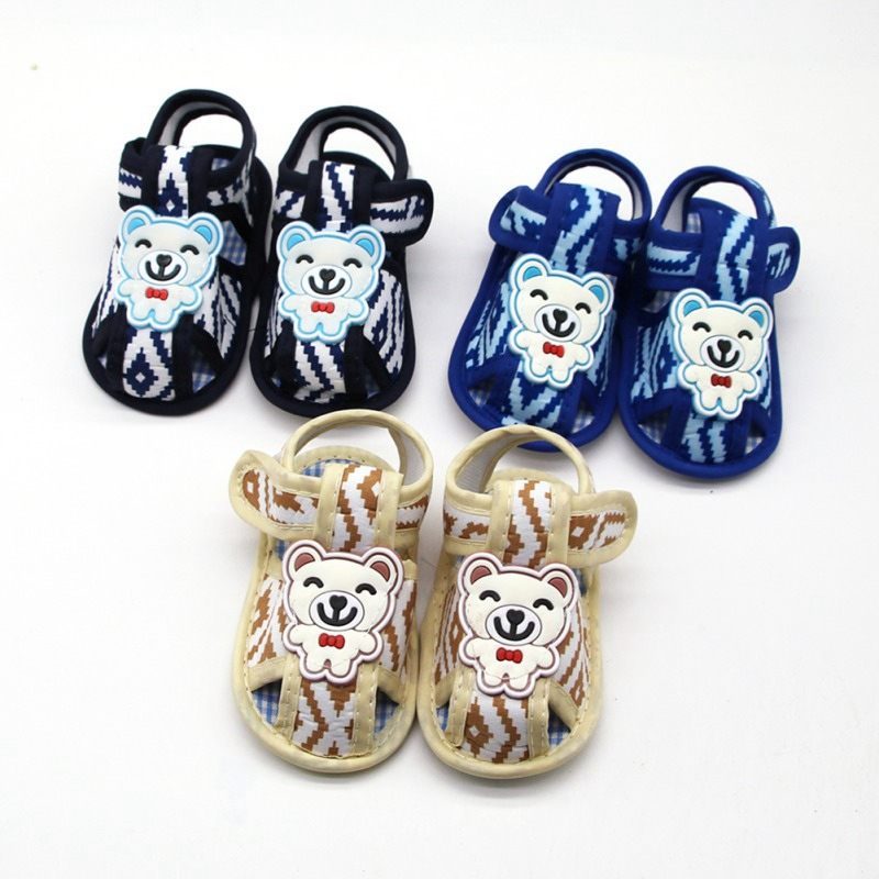 Newborn Infant Baby Girls Boys Summer Casual Sandal Shoes Cotton Gentleman Panda Print Soft Baby Shoes 0-18M