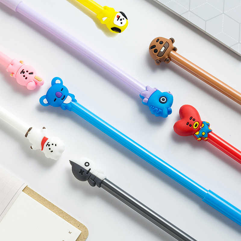 8 Styles Optional Q Version 0.5mm Gel Pen School Office Supplies Cartoon Black Ink Signing pen For Student Stationery Gift