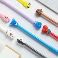 8 Styles Optional Q Version 0.5mm Gel Stift Schule Bürobedarf Cartoon Schwarz Tinte Unterzeichnung stift Für Student Schreibwaren Geschenk