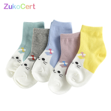 Kitten Sock Baby-Girls Cotton Cute 5pairs/Lot Unisex Soft for 1-10Y Breathable Boy High-Quality