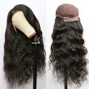 Image 2 - Rosabeauty 28 30 אינץ 13x4 תחרה מול שיער טבעי פאות 180 צפיפות ברזילאי גוף גל פרונטאלית פאה שחור נשים מראש קטף