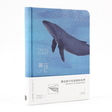 Newest 2020 Whale Illustrations Sketchbook Notebook Diary Drawing 112 Sheets Cute Whale Office School Notepad Paper Book