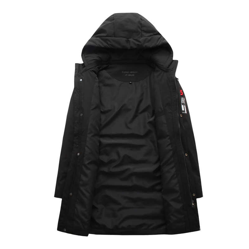 New Plus Size 8XL 7XL Mens Lungo Imbottiture Cappotto Del Rivestimento di Marca Nuovo Maschio Casual Inverno Imbottiture Parka Degli Uomini di Spessore Imbottiture giacca Cappotto