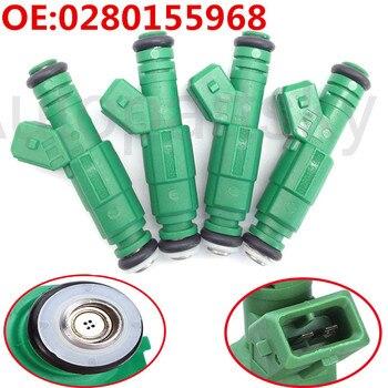 4pcs Fuel Injector High Flow 440CC/Min For Audi A4 S4 TT 1.8L 1.8T TK-FI440C968-4 0280155968 M-9593-F302 0280150558 9202100