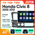 JIUYIN для Honda Civic 8 FK FN FD 2005 - 2012 автомобильный Радио Мультимедиа Видео плеер навигация Android 10 No 2din 2 din dvd