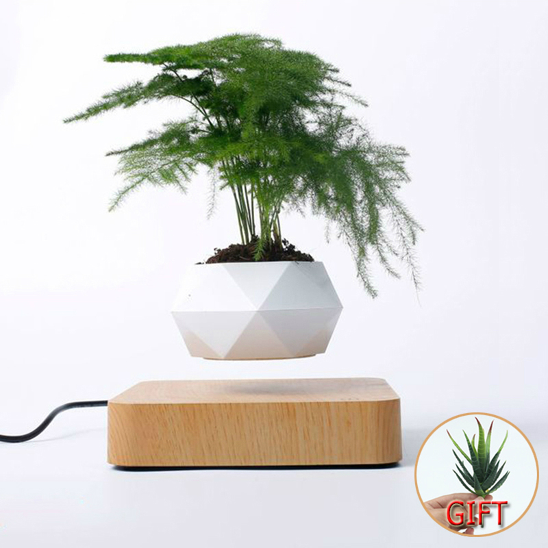 Hot Sale Levitating Air Bonsai Pot Rotation Planters Magnetic Levitation Suspension Flower Floating Pot Potted Plant Desk Decor 1