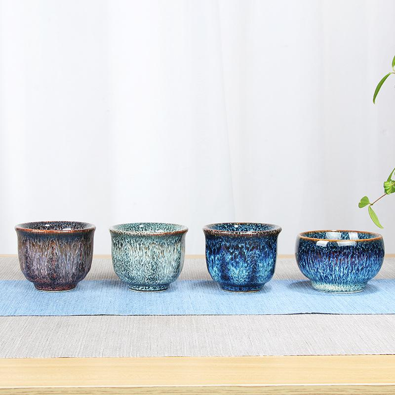 60 Ml Handpainted Blue And Green Ceramic Porcelain Cups Ceramics Glaze Drinkware Chinese Kung Fu Tea Set Teacup Cups For Oolong