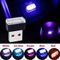 Mini LED Auto Licht USB Atmosphäre Lichter Bunte Auto Umgebungs Licht Dekorative Lampe Notfall Beleuchtung Tragbare Auto Zubehör