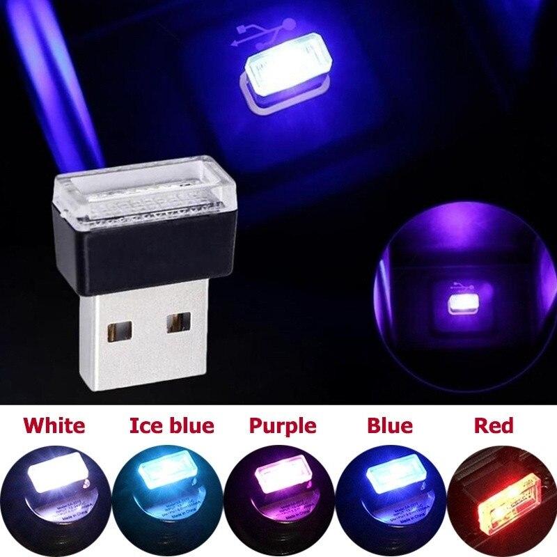 Mini lampe LED USB colorée pour voiture, éclairage dambiance, lampe décorative, éclairage durgence, accessoires de voiture portables