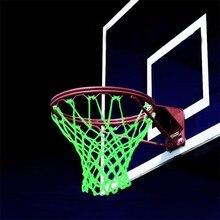 Светящаяся световая тренировочная зеленая светящаяся баскетбольная сетка для мяча нейлоновая стандартная баскетбольная сетка-обруч