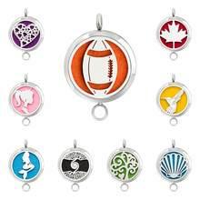 Diffuseur d'huile essentielle en acier inoxydable 316L, 30mm, médaillon de parfum, pendentif peut faire comme collier ou Bracelet bricolage