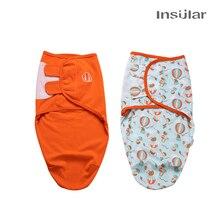 섬lar 한 2 개/대 아기 슬리핑 백 고치 신생아 유아 면화 니트 아기 Swaddles 포장 담요 0 7 개월 동안 수면 자루