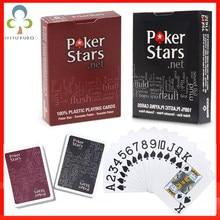 Пластиковые игральные карты для Техасского холдема, покерные карты, водонепроницаемые и тусклые полированные покерные звезды, настольные ...