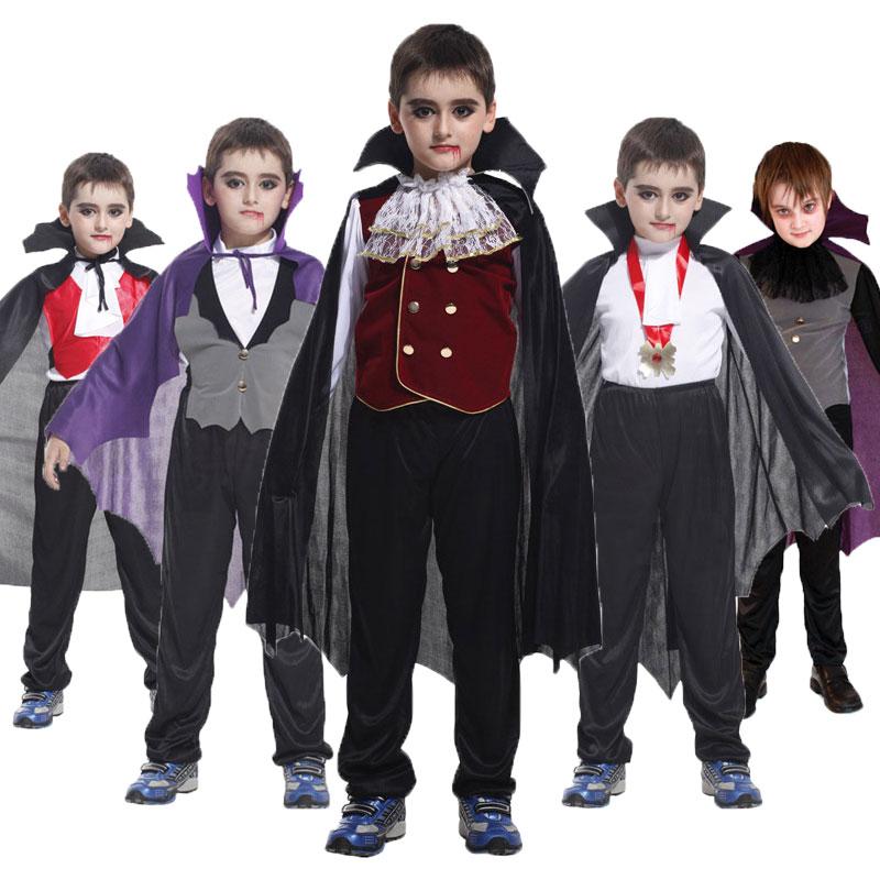 Детский карнавальный костюм Umorden, детский готический костюм Дракула на Хэллоуин, фэнтези, принц, вампир, косплей для мальчиков