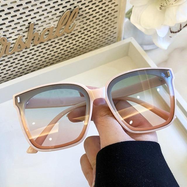 2021 חדש כיכר גדול משקפי שמש נשים יוקרה מותגי משקפי שמש גברים בציר שחור שמש משקפיים גוונים בצבע Goggle UV400