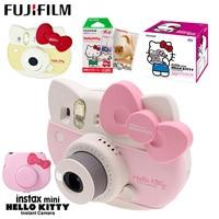 Fujifilm Instax Mini 8 Kitty Limited Edition Instant Camera with 10 Sheets Kitty Film Stickers Strap Box Set Photo Camera Bag