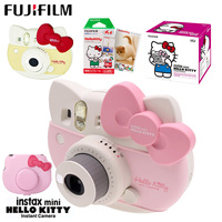 Fujifilm Instax Mini 8 Kitty Limited Edition Instant Camera with 10 Sheets Kitty Film Stickers Strap Box Set Photo Camera Bag