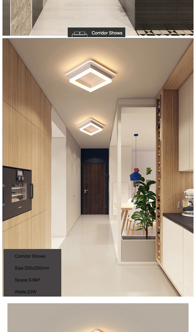 Hdb89dc24d68c4a89ad3ca9969428ba02g Modern Led Ceiling Lights For Hallway Porch Balcony Bedroom Living Room Surface Mounted Square/Round LED Ceiling Lamp