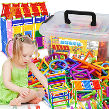 500pcs DIY Creative Intelligence Sticks Blocks Magic Wand Magnetic Designer Construction Set Plastic Model & Building Blocks 110pcs magnetic building blocks model