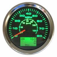 Nuovo Arrivo 0-80MPH Gps Tachimetri Calibri Lcd Velocità Contachilometri Impermeabile 0-120Km/H con Il Rosso Verde Blu Bianco Retroilluminazione per Auto