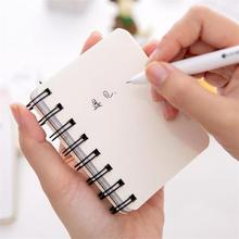 TOPSTHINK Paper school stationery Cute animal cartoon rollover coil notebook portable mini pocket sketchbook