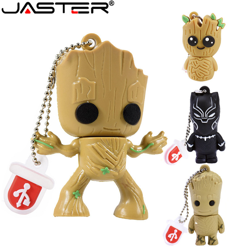 JASTER New Lovely Tree Man Usb Flash Drive Cartoon Tree Pendrive 4GB 8GB 16GB 32GB 64GB Memory Stick U Disk