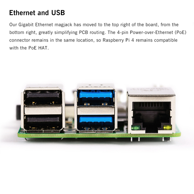 Latest Raspberry Pi 4 Model B with 1/2/4GB RAM BCM2711 Quad core Cortex-A72 ARM v8 1.5GHz Support 2.4/5.0 GHz Speeder Than Pi 3B 4