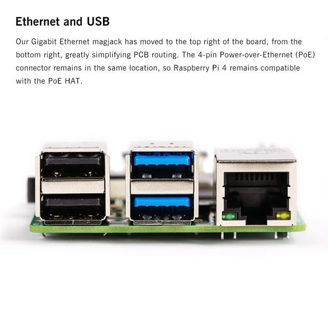 Latest Raspberry Pi 4 Model B with 2/4/8GB RAM BCM2711 Quad core Cortex-A72 ARM v8 1.5GHz Support 2.4/5.0 GHz Speeder Than Pi 3B 4