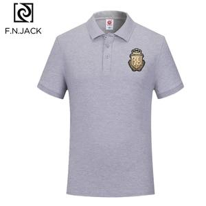 Image 4 - F. n. جاك جديد الإمالة عارضة قمم للرجل قصيرة كم مان الصيف بولو الرجال الكلاسيكية القطن قميص بولو