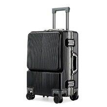 20 дюймов креативный откидной Чехол на колёсиках багаж Спиннер кабина ноутбуки Алюминиевая тележка Рама чемодан в деловом стиле