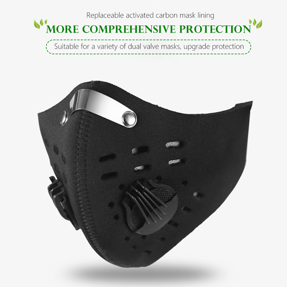Four Layers Of Naked 10 Pcs Cycling Mask Liner Activated Carbon Mask Accessories Filter Five Layers PM2.5 Mask Filter Chip