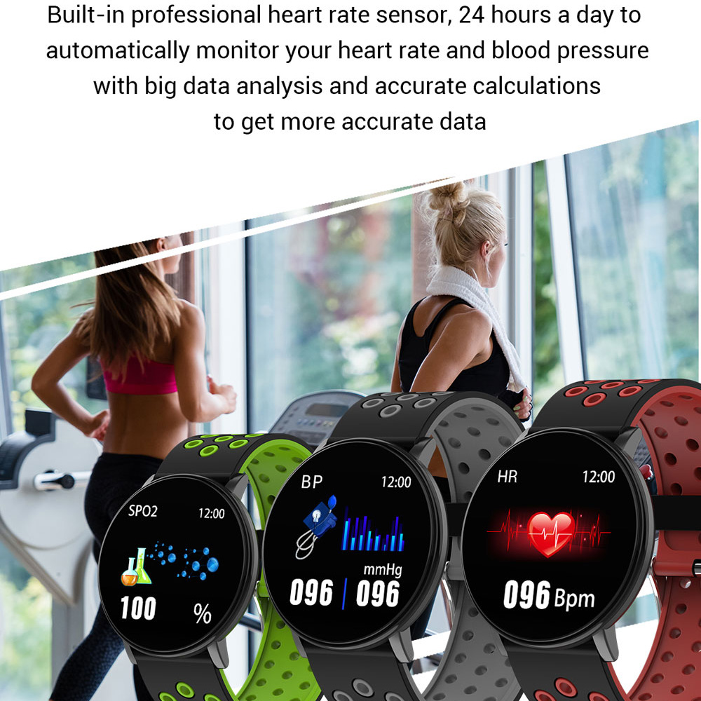 lowest price 119Plus Smart Wristband Heart Rate Monitor Sport Tracker Smart Watch Sport Smartband For Android IOS Men Women Smart Bracelet