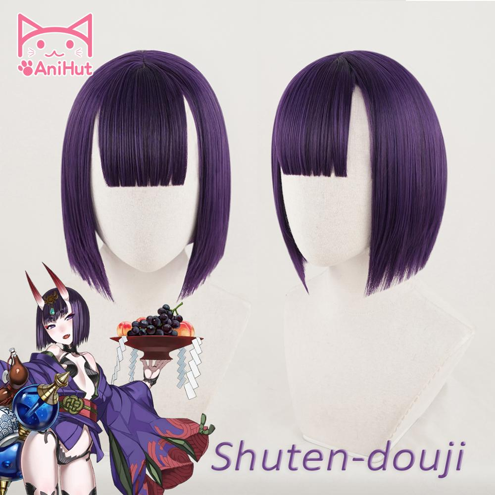 【AniHut】Shuten Douji Cosplay Wig Fate Grand Order FGO Wig Synthetic Purple Hair Shuten Douji