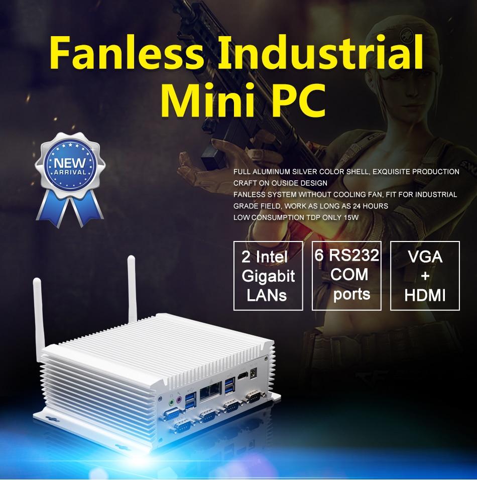 Best Selling Intel Core I5 4200U TDP 15W Industrial Pc Onboard  2 Ethernet Mini Pc 6COM HD VGA DDR3L Pc Computer