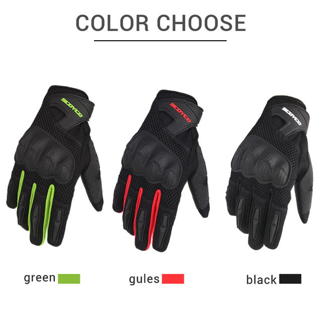 SCOYCO Motorcycle Gloves Summer Breathable Mesh Moto Gloves Touch Function Motorbike Gloves Motocross Off-Road Racing Gloves 3
