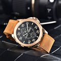 Parnis 44 мм автоматические часы мужские механические наручные часы светящиеся водонепроницаемые резерв мощности Авто Дата кожаный ремешок му...