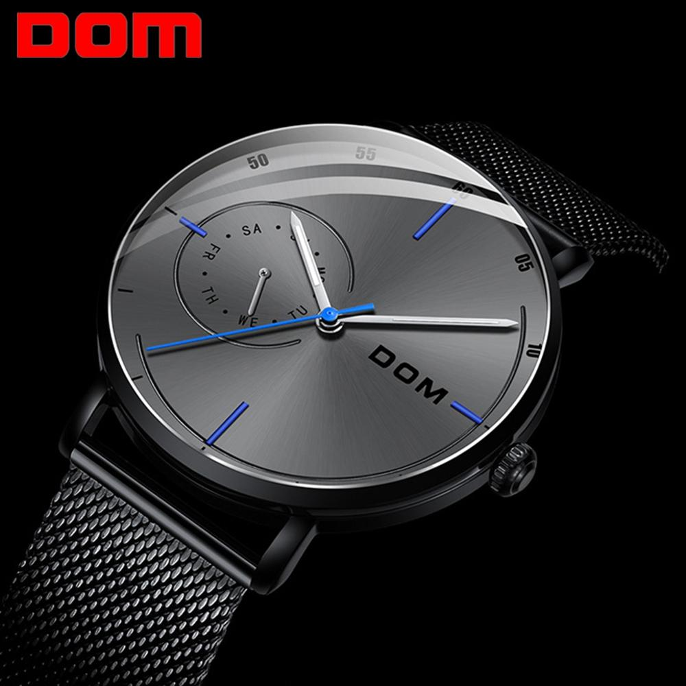 Mens Waterproof Watches Leather Strap Slim Quartz Casual Business Mens Wrist Watch Top Brand Male Clock 2019 Fashion