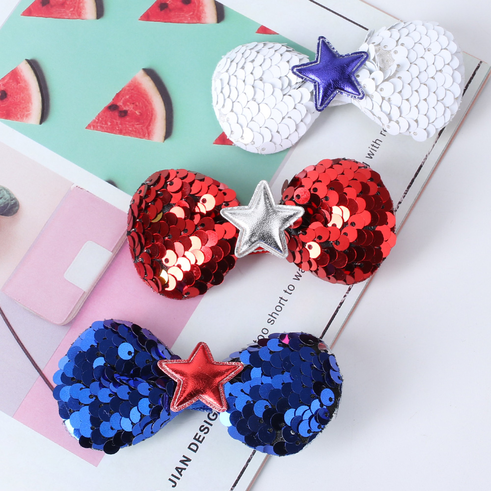 3Pcs//Set Christmas Cute Party Hair Bows Clips For Girls Hair Accessories US