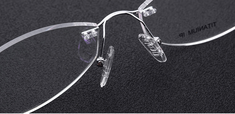 Top grade B Titanium frames SL719 for women famale frame rimless glasses myopia reading glasses ultralight frame speiko eyewear - 6