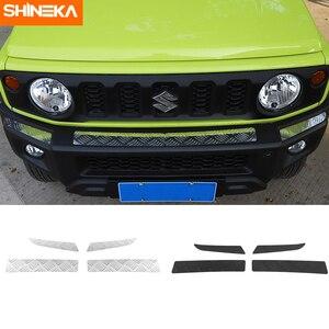 Image 1 - Shineka Aluminium Bumpers Bescherming Voor Suzuki Jimny Auto Voorbumper Versieringen Cover Panel Accessoires Voor Suzuki Jimny 2019 +