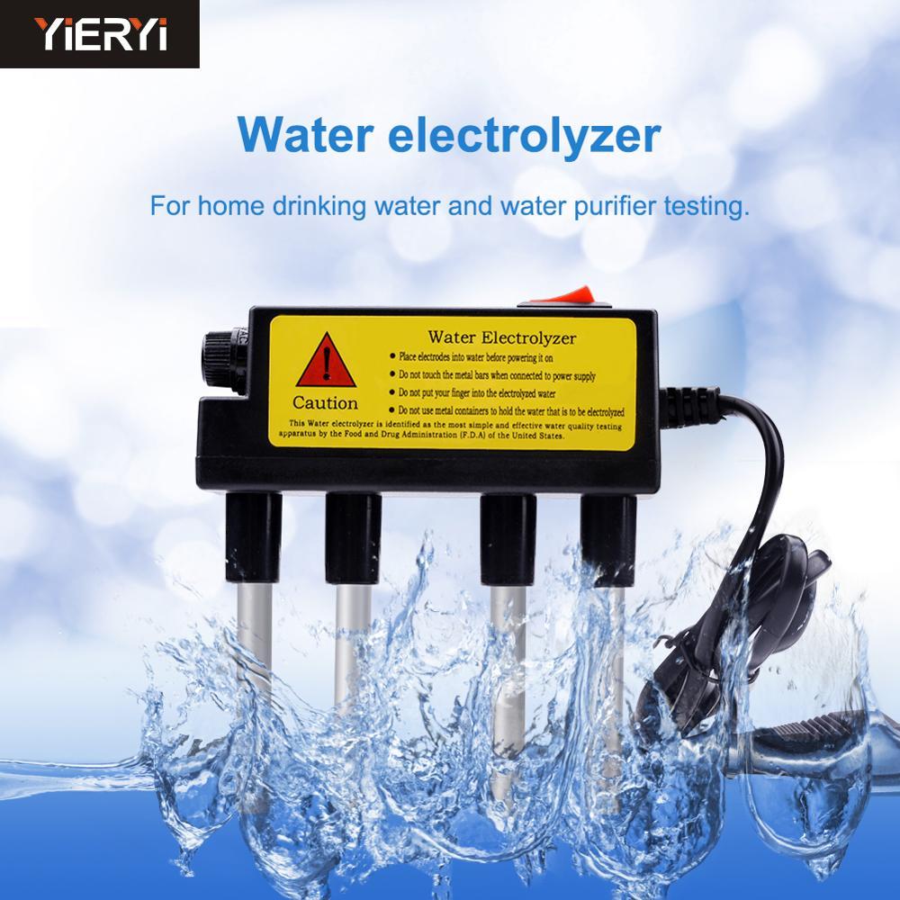 Yieryi High Precision TDS Quality Water Electrolyzer Electrolysis Pen Water Test  Tools English Version EUR/USA Plug