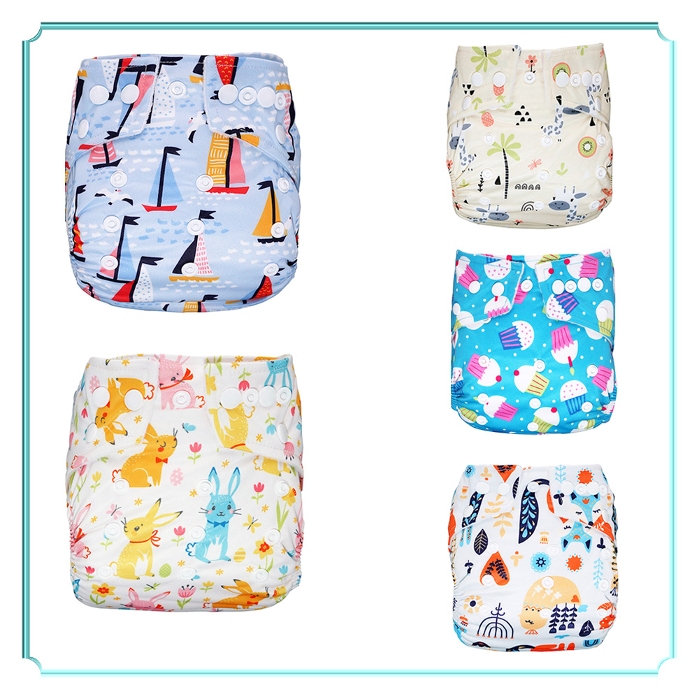Littles /& Bloomz Pattern 68 with 1 Bamboo Charcoal Insert Fastener: Hook-Loop Set of 1 Reusable Pocket Cloth Nappy